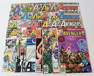 #69 Vintage Marvel Avengers 188-89 194-95 199 201 204-08 210 Annuals, 13 More