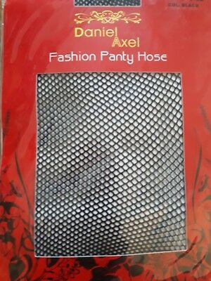 Daniel Axel Fashion Panty Hose Fishnets Black Stockings Free Size New In Pack