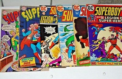 Superboy #131,141,192,194,197,199 comic lot (VG+/FN)  Legion of Super-Heroes