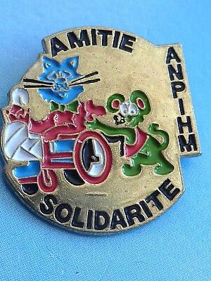 Pin's Animaux Chat Souris Amitie Solidarite Anpihm