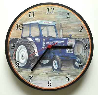 Ford 4000 Tractor with Cab/Battery Wall Clock./Tractor/Wall Clock/new