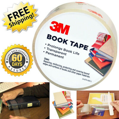 Book Repair Tape Clear Restoration Repair 3m Scotch Binding Adhesive Bookbinding