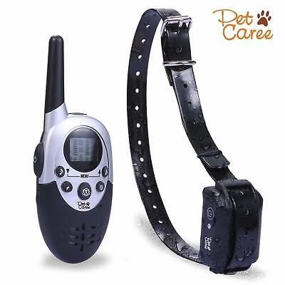 Electric Dog Collar Shock Waterproof Rechargeable Petrainer Remote Training 1100