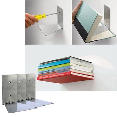 Pack of 3 Conceal Invisible Bookshelfs Wall Mounted Floating Shelves Storage USA