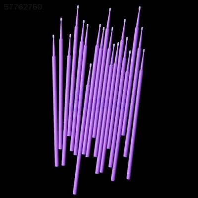 E6AF 100Pcs Purple Disposable Brush Wands Swab Applicator Micro Brush Eyelashes