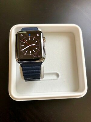 Apple Watch (1st generation) 42mm Stainless Steel, Magnetic Leather Loop, Retina