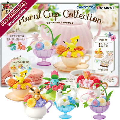 Pokemon Floral Cup Collection Teacup Teapot Icecream cup FULL SET of 6