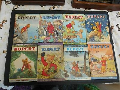 Eight Rupert Bear Annuals (1969-1979)