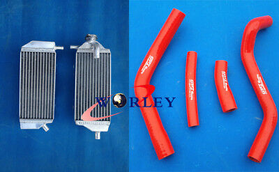 L&R ALUMINUM RADIATOR YAMAHA YZ450F YZF450 YZ 450F 2014 2015 2016 and red hoses