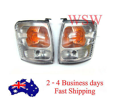 Chrome Front Corner Indicator Lights Lamps Pair For Toyota Hilux Ln167 2003 D4D