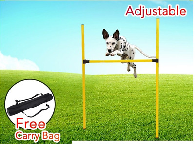 Dog Agility Training Bar equipment pet show exercise puppy jump Bar Blue yellow