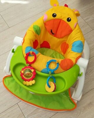 Fisher price sit me up seat giraffe booster seat feeding with tray