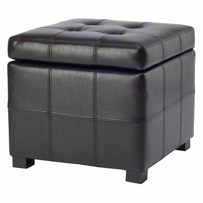2 Tray Top Brown Leather Storage Ottoman Coffee Table Pic Exclusive Safavieh Maiden Square Tufted