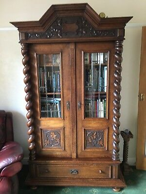 Period Solid Oak Antique Bookcase