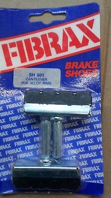 Retro 1980s Mtb Cycle Brake Block Fibrax Sh501 Cantilever Block Nos Pair