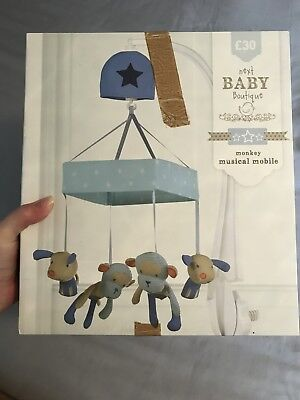 NEXT Baby Cheeky Monkey Items (2015) Cot Mobile Boxed, Curtain Ties, Cot Bumper