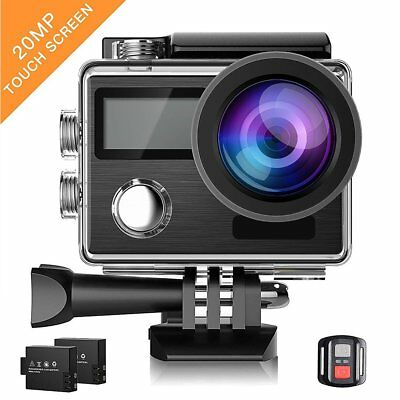 ACT76 Action Cam WiFi Sports Camera Ultra HD 4K Waterproof DV Camcorder E