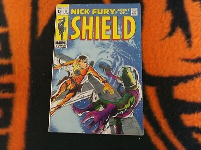 Nick Fury  : Agent Of Shield #11  Apr/1969 Vf- Hate Monger