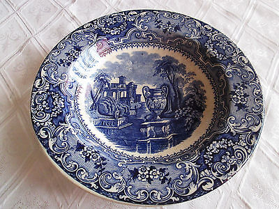 Vtg Handmade Rare Decorative Pocelain Wall Plate Greece Landscape And Amphora