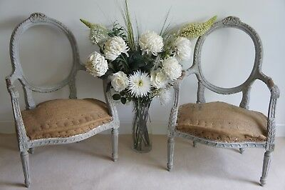 Pair of antique French armchairs