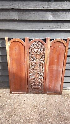 Antique Wooden Folding Screen