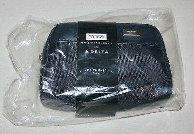 Tumi Delta One First Class Amenity Soft Case, New In Bag, Kiehl Products