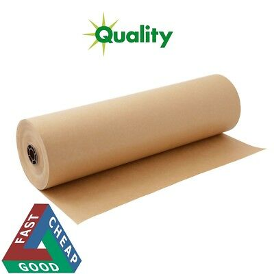 25m x 750mm STRONG BROWN KRAFT WRAPPING PAPER roll heavy duty