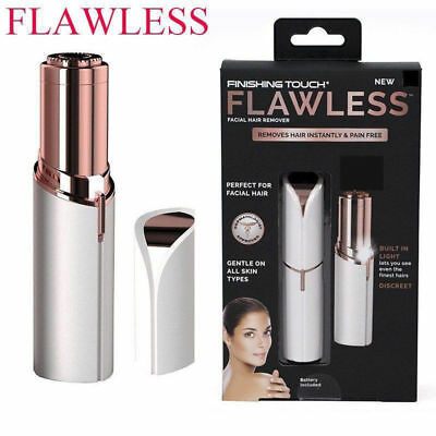 Women's Painless Facial Face Body Flawless Hair Removal Remover Trimmer Shaver