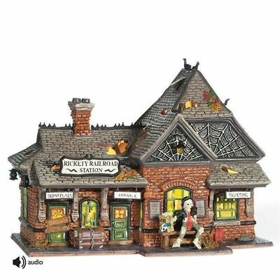 Dept 56 SV Halloween Village RICKETY RAILROAD STATION #800000 (New)