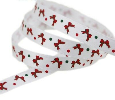 Printed Design Christmas Ribbon Pattern For Decoration Scrapbook Accessories New