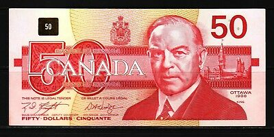 Canada - 1988 Bank of Canada 50 Dollars Banknote P98da/BC-59d XF+ Condition