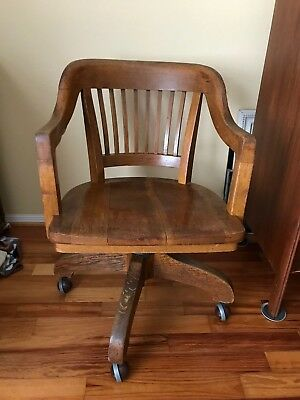 Vintage Swivel Office Bankers Lawyers Chair