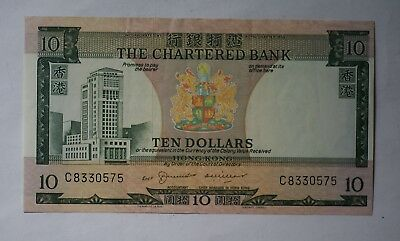 The Chartered Bank 1975 $10 note, Chief Manager in Hong Kong version