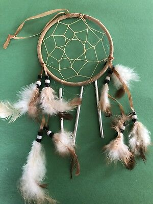 Handmade Native American Dream Catcher With Chimes 4""