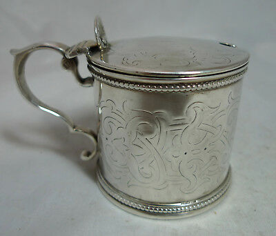 Victorian Gotthic Silver Mustard Pot Henry Holland London 1863 114g A677317
