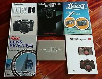 Lot of 6 Leica Camera Photography Books