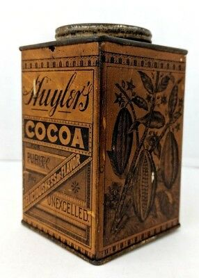 Antique early 1900's HUYLER'S COCOA Tin w/Embossed Lid - Nice Graphics!