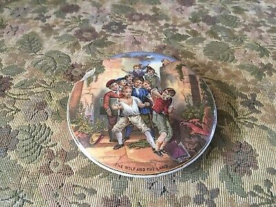 Antique 19th. Century Prattware Pot Lid