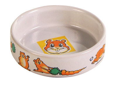 Trixie Guinea Pig Design Ceramic Food Bowl Dish 62952
