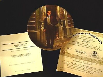Rhett Butler Collector Plate,4th Issue Gone With The Wind Series By Kursar, 1981