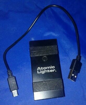 Atomic Lighter by Bulb Head With USB Charge Cable Black No Fuel Or Wicks Needed