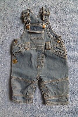 Baby clothes BOY 3-6m NEW! Adams faded blue denim dungarees leg poppers SEE SHOP