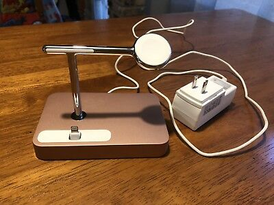 Belkin Rose Gold Valet Charge Dock (F8J183) For iPhone & Apple Watch