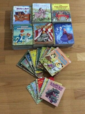 Mixed Lot Of 98 Little Golden Books New And Vintage Very Good Condition