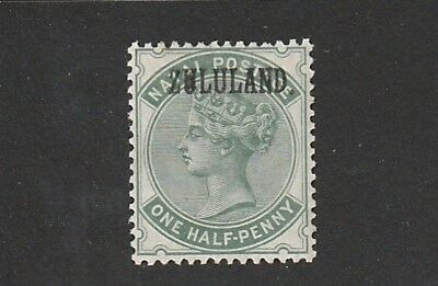 Zululand - Queen Victoria -  SG 12 - 1/2d Dull Green with Stop -  Mounted MINT