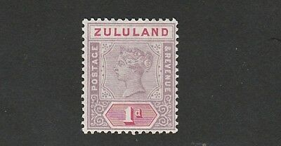 Zululand - Queen Victoria -  SG 21 - 1d Dull Mauve with Carmine  -  Mounted MINT