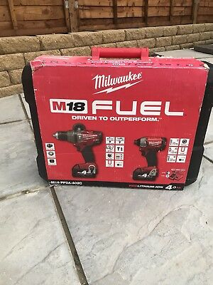 Milwaukee M18 PP2A-402C Heavy Duty Fuel Brushless Twin Pack
