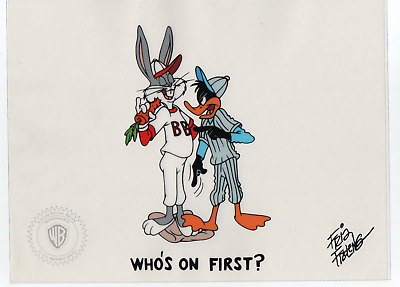 Limited Edition Sericel WB Bugs Bunny and Duffy Duck signed by Friz Freleng