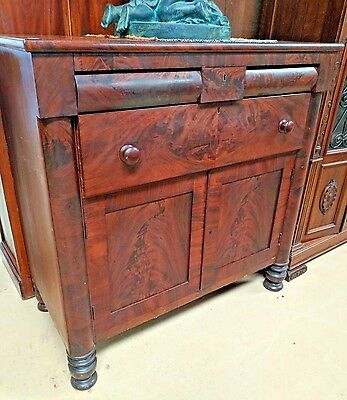 Antique American Empire Chest of Drawers Cabinet Mahogany