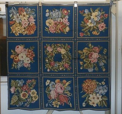 "FRENCH FLORAL ROSE THICK WOVEN TAPESTRY WALL HANGING - 52"" x 52"" Tablecloth"
